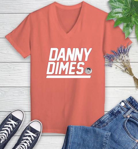 Danny Dimes Ny Giants Women's V-Neck T-Shirt 6