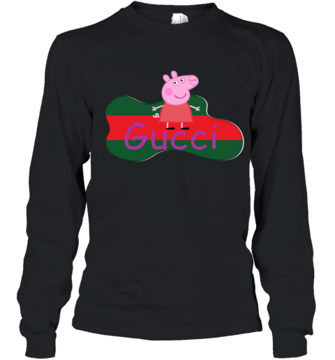 Peppa Pig Gucci Shirt Design Youth Long Sleeve T-Shirt