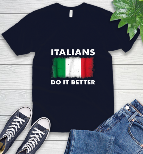 Italians Do It Better V-Neck T-Shirt 2