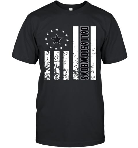 f1ef3f57 NFL Dallas Cowboys Logo American Flag T-Shirt