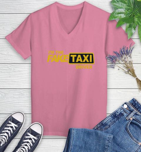 I am the Fake taxi driver Women's V-Neck T-Shirt 13