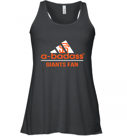 MLB A Badass San Francisco Giants Fan Adidas Baseball Sports Racerback Tank