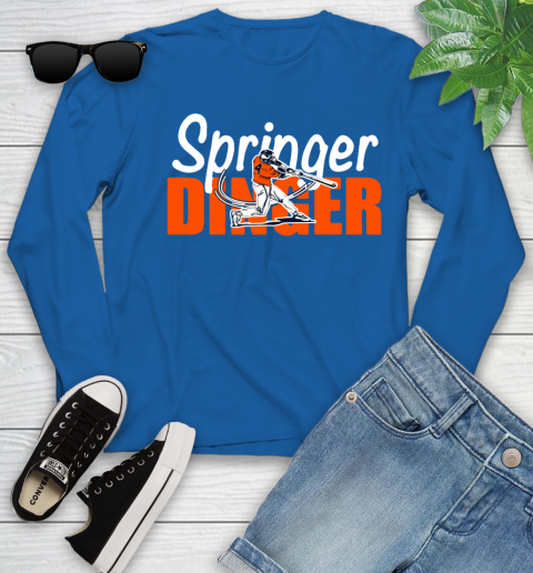 Houston Springer Dinger Fan Shirt Youth Long Sleeve 10