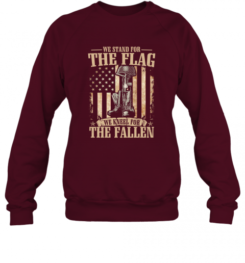 We Stand For The Flag We Kneel for the Fallen Long Sleeve Sweatshirt