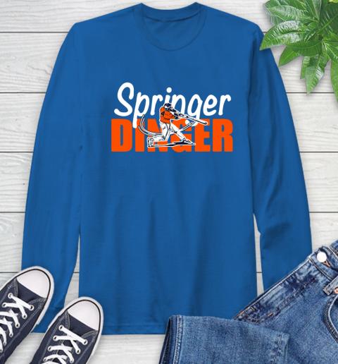 Houston Springer Dinger Fan Shirt Long Sleeve T-Shirt 10