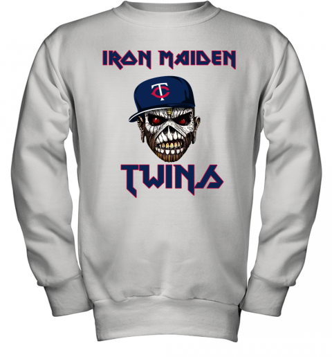 MLB Minnesota Twins Iron Maiden Rock Band Music Baseball Sports Youth Sweatshirt