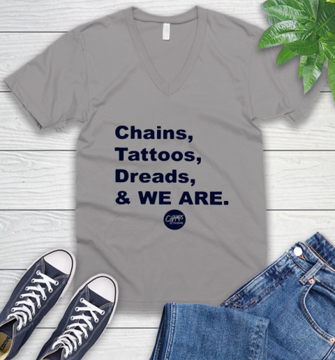 Penn State Chains Tattoos Dreads And We Are V-Neck T-Shirt 2