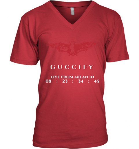 Gucci Bat Limited Edition V-Neck T-Shirt