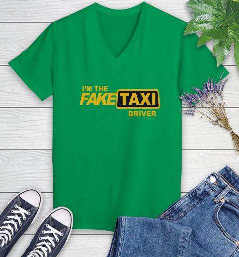 I am the Fake taxi driver Women's V-Neck T-Shirt 5
