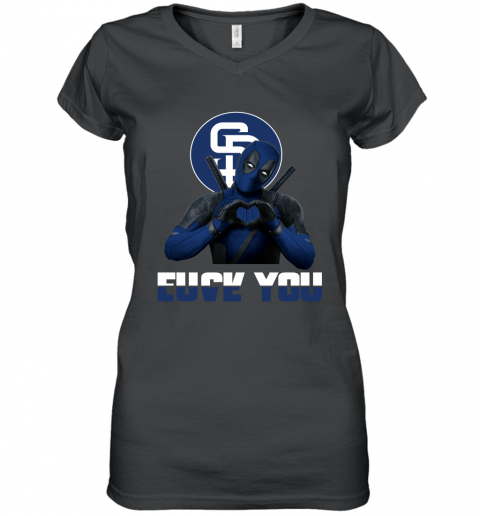MLB San Diego Padres Deadpool Love You Fuck You Baseball Sports Women's V-Neck T-Shirt