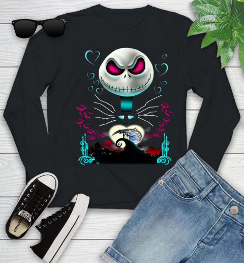 NBA Orlando Magic Jack Skellington Sally The Nightmare Before Christmas Basketball Sports_000 Youth Long Sleeve