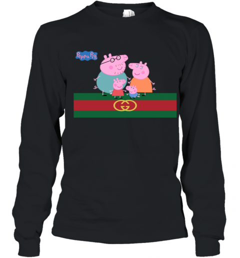 Peppa Pig Gucci Family Limited Youth Long Sleeve T-Shirt