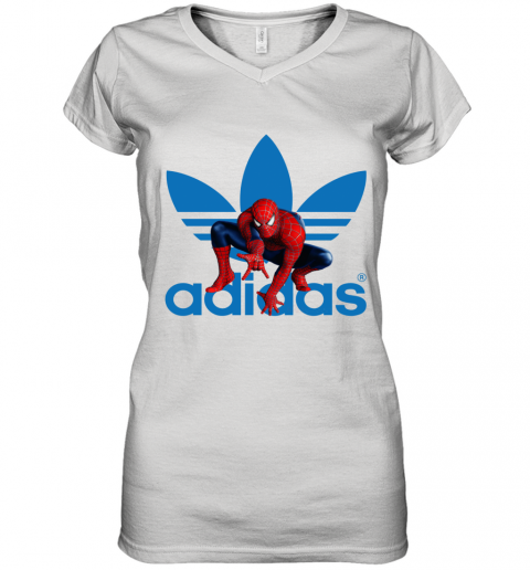 Adidas Spiderman Women's V-Neck T-Shirt