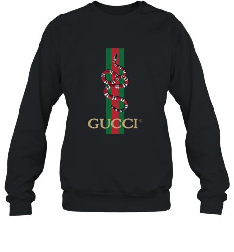 Gucci Logo Snake Polo Sweatshirt