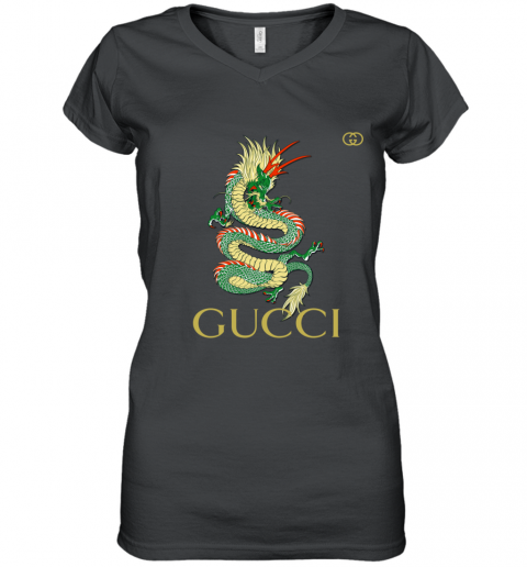 Gucci Dragon Premium Women's V-Neck T-Shirt