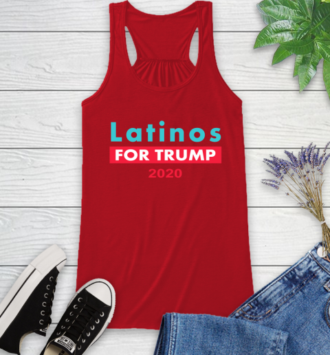 Latinos Trump 2020 Racerback Tank 6