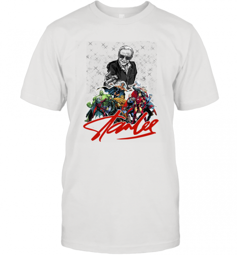 Stan Lee Thanks for the Memories Super Hero Marvel T-Shirt