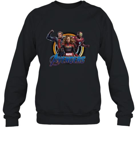Avengers Endgame Captain Marvel Iron Man and Captain America shirt Sweatshirt